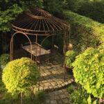 Gartenpavillon Verona, unbeschichtet (Edelrost)